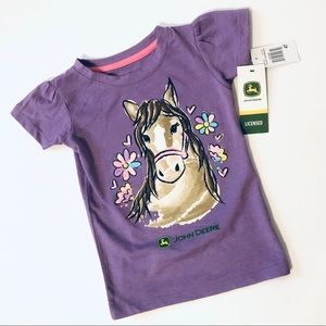 NWT John Deere Pony Purple Sparkle Top - 4T